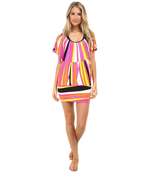 Trina Turk - Sunburst Tunic Cover-Up (Snapdragon Pink) Women's Swimwear