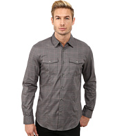 John Varvatos Star U.S.A. - Button Down Shirt w/ Peace Embroidery & Sleeve Tabs W932R3L