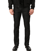 John Varvatos Star U.S.A. - Bowery Fit Slim Straight Jeans w/ Zip Fly in Mineral Black J306R3B