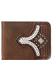 M&F Western - Diamond Concho Contrast Stitch Bi-Fold Wallet