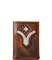 M&F Western - Diamond Concho Contrast Stitch Tri-Fold Wallet