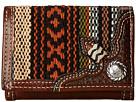 M&F Western Saddle Blanket Concho Tri-Fold Wallet