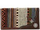 M&F Western Saddle Blanket Concho Rodeo Wallet (Multi)