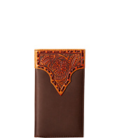 M&F Western - Leather Stitch Floral Embossed Rodeo Wallet