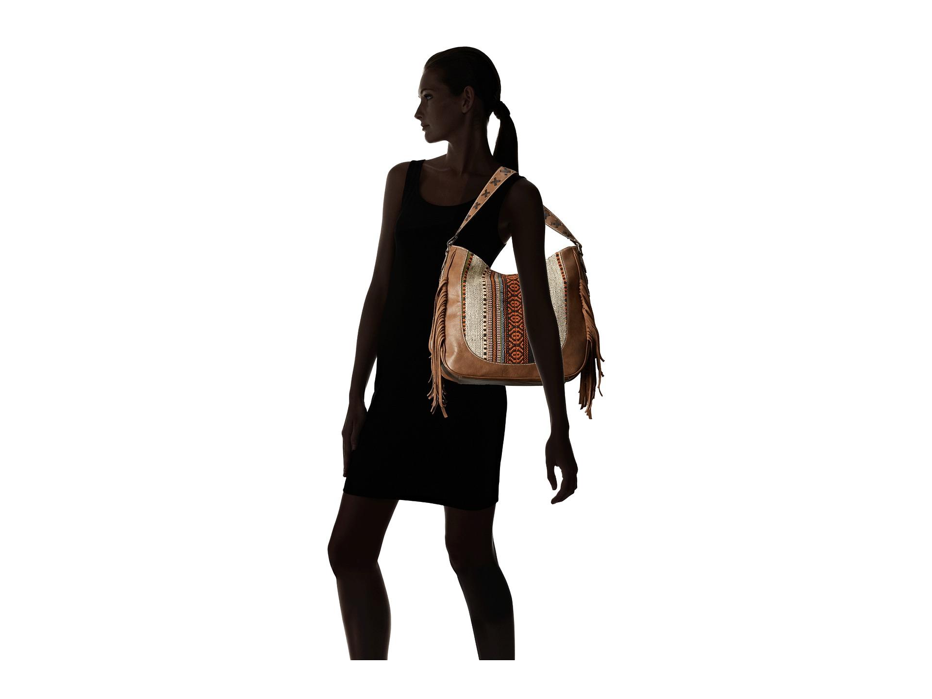 M&F Western Saddle Blanket Fringe Large Shoulder Bag at ...