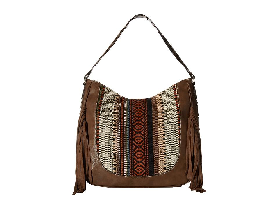 M & F Western - Saddle Blanket Fringe Large Shoulder Bag (Brown/Multi) Shoulder Handbags