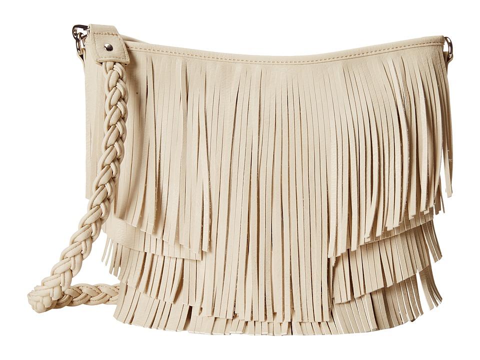 M & F Western - Fringe Hobo Bag (Ivory) Hobo Handbags