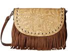 M&F Western Tooled Fringe Shoulder Bag (Brown)