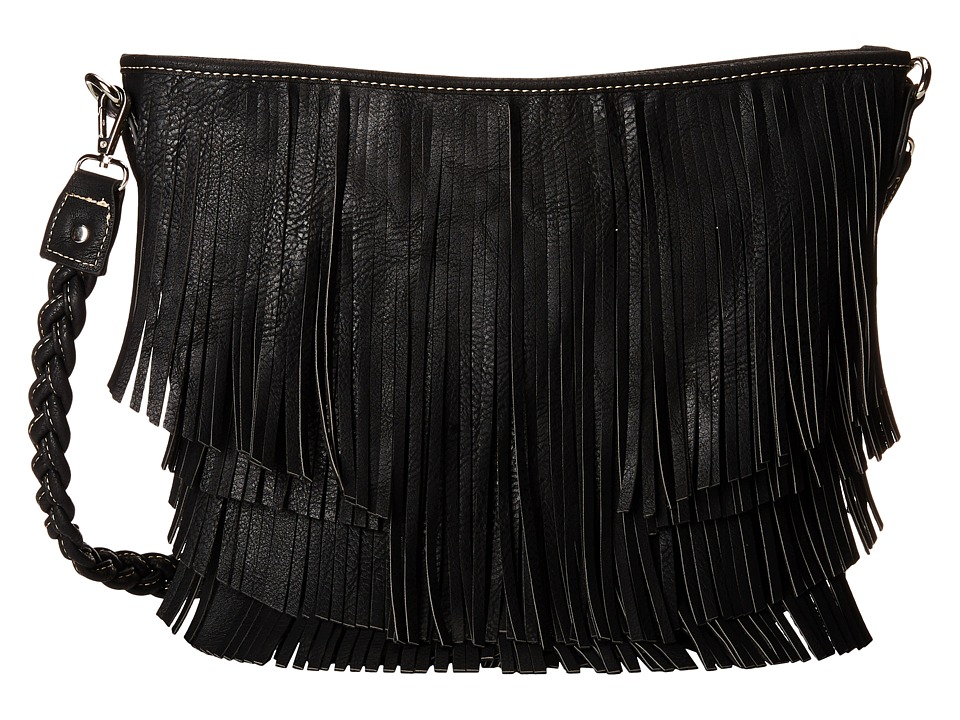 M & F Western - Fringe Hobo Bag (Black) Hobo Handbags