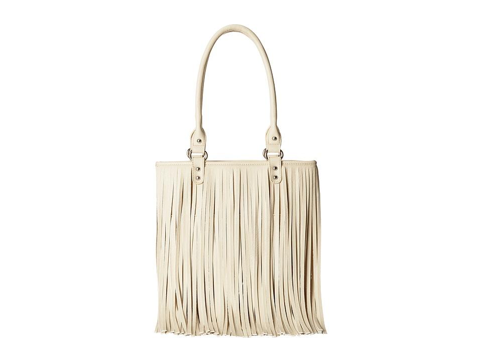 M & F Western - Fringe Shoulder Bag (Ivory) Shoulder Handbags