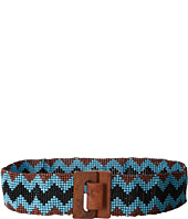 M&F Western - Wide Stretch Beaded Chevron Belt