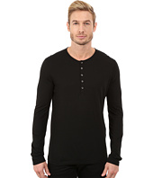 John Varvatos Star U.S.A. - Long Sleeve Knit Henley with Shoulder Seam Details K2217R3L