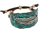 M&F Western Hammered Feather Cuff Bracelet