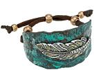 M&F Western Hammered Feather Cuff Bracelet