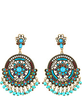 M&F Western - Multi Stone Dream Catcher Drop Earrings