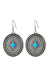 M&F Western - Engraved Oval Concho Drop Earrings