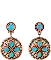 M&F Western - Drop Rose Concho Earrings