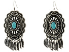 M&F Western Feather Concho Drop Earrings