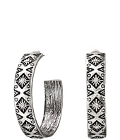 M&F Western - Southwest Engraved Medium Hoop Earrings