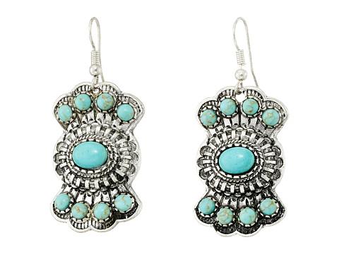 M&F Western Fishhook Stoned Drop Earrings - Turquoise