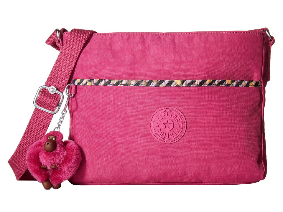 Kipling - Camille Crossbody Bag (Pink Flamingo/Pink Weave Trin) Cross Body Handbags