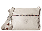 Kipling Camille Crossbody Bag (Lacquer Agate Grey/Pink Weave Trim)