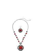 M&F Western - Stone Cross Concho Necklace/Earrings Set