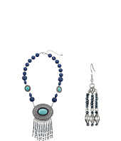 M&F Western - Oval Fringe Concho Necklace/Earrings Set