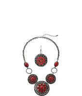 M&F Western - Flower Concho Necklace/Earrings Set
