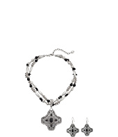 M&F Western - Engraved Cross Necklace/Earrings Set