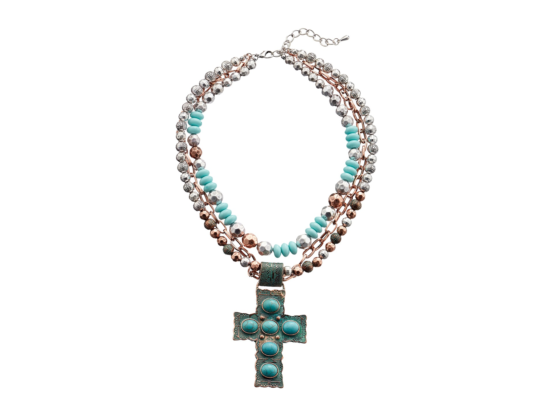 m f western engraved cross pendant necklace earrings set