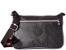 Kipling Callie Coated Handbag (Black Lacquer/Steel Metallic Trim)