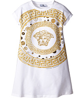 Versace Kids - Medusa Coin Print Short Sleeve Dress (Big Kids)