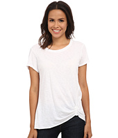 Michael Stars - Supima Cotton Slub Short Sleeve Crew w/ Pleat