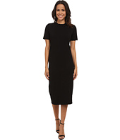 Michael Stars - Cotton Lycra Short Sleeve Crew Neck Midi Dress