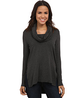 Michael Stars - Elevated Terry Long Sleeve Cowl Hood Hi Low Tunic