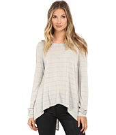 Michael Stars - Lolita Stripe Long Sleeve Hi Low w/ Split Back
