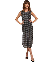 Michael Stars - Plaid Print Georgette Sleeveless Button Up Dress