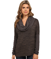 Michael Stars - Sweater Knit Rib Mix Long Sleeve Cowl Neck