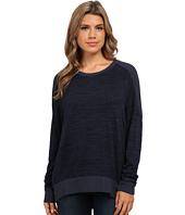 Michael Stars - Sweater Knit Rib Mix Long Sleeve Hi Low Pullover