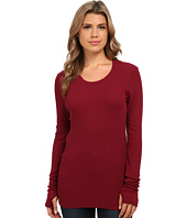 Michael Stars - Thermal Long Sleeve Scoop w/ Thumbholes