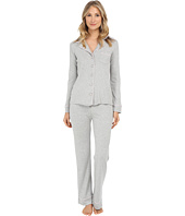 Michael Stars - Long Sleeve Button Up and Drawstring Pants PJ Set