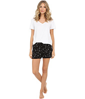 Michael Stars - Short Sleeve Vee Neck and Drawstring Shorts PJ Set