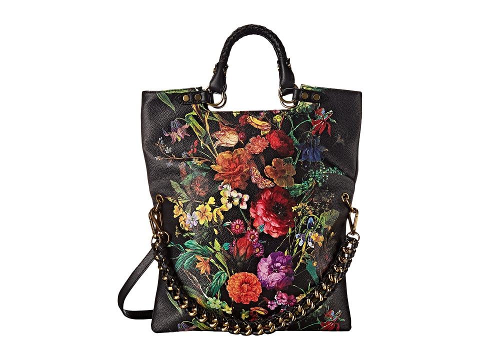 Elliott Lucca Artisan Iara Fold Over Tote Autumn Botanica Tote Handbags