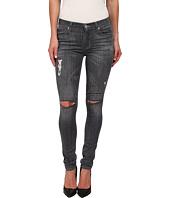 Hudson - Shine Mid Rise Skinny Jeans in Obsidian
