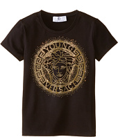 Versace Kids - Medusa Logo In Stones Short Sleeve Tee (Big Kids)