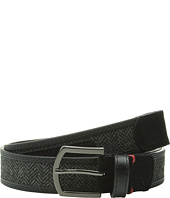 Original Penguin - Leather Belt w/ Woven Insert