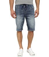 Seven7 Jeans - Knit Denim Shorts in Leaded Blue