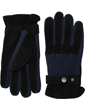 Original Penguin - Ribbed Knit and Suede Gloves