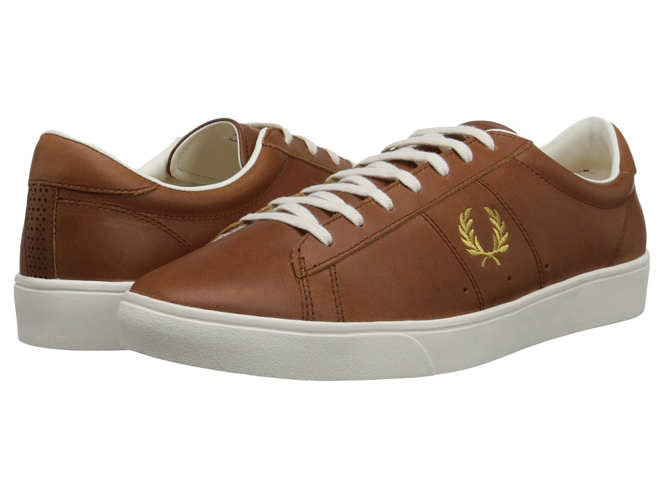 Fred Perry Spencer Leather (Dark Tan/1964 Gold) Men